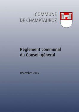 Règlement communal du Conseil général