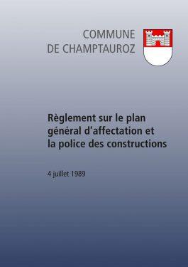 Règlement sur le plan général d'affectation et la police des constructions