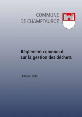 Règlement communal sur la gestion des déchets